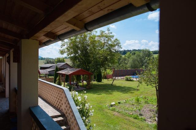 Uitzicht vanaf de veranda