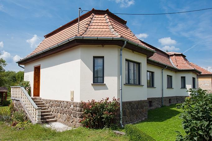 Voorkant van het hus